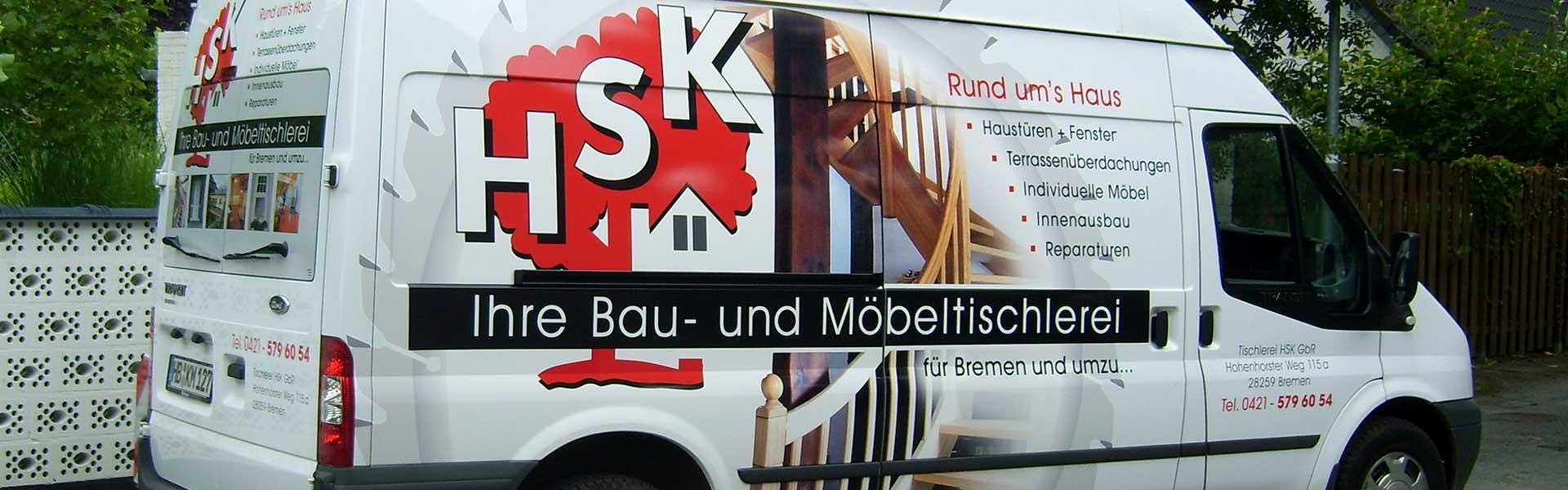 Werbebeschriftung auf Transportern